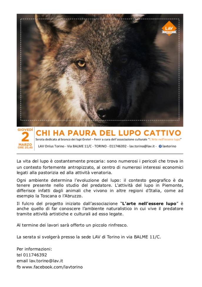 chi ha paura del lupo catttivo